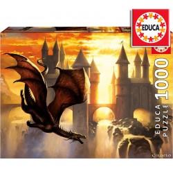 Rompecabezas Dragones al Atardecer de 1000 piezas - Educa