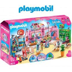 Paseo comercial con tres tiendas - Playmobil
