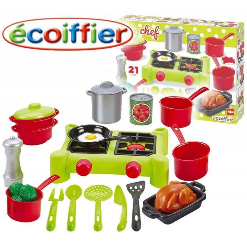 Aprendiendo a Cocinar - Ecoiffier - 21 Piezas