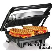 Grill Sandwichera - Hamilton Beach - Panini Press Gourmet - 25460