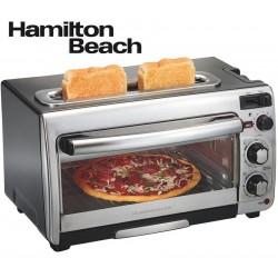 Horno y Tostadora Electrica 2 en 1 de 12 Litros - Hamilton Beach - 31156