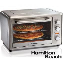 Horno Eléctrico con Convección y Rostizador Giratorio de 32 Litros - Hamilton Beach - 31103