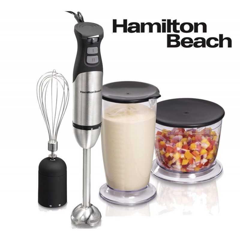 Mixer Batidora y Procesadora de Mano 3 en 1 de Acero Inoxidable - Hamilton Beach - 59769