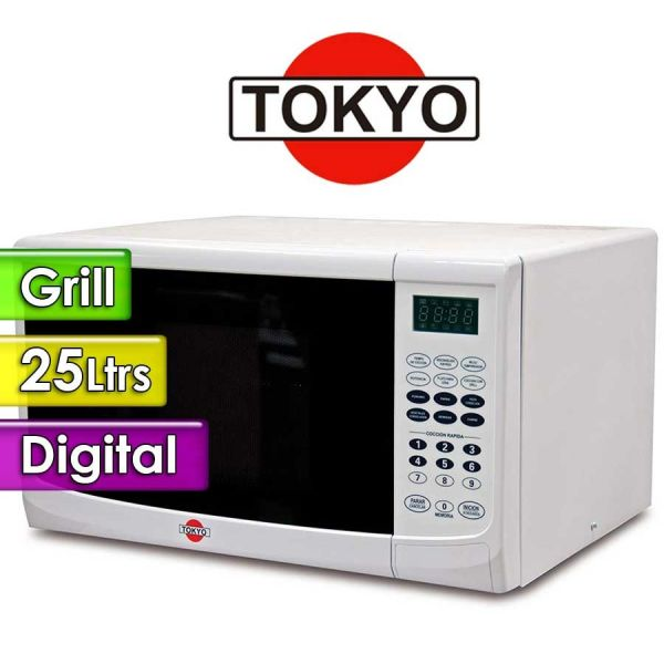 Microondas Tokyo - 25 Ltrs - TOK25BL - Con grill