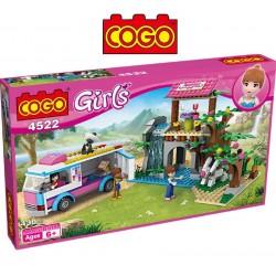 Casita Coqueta de Villa Bloques - Juego de Construcción - Cogo Blocks - 319 piezas