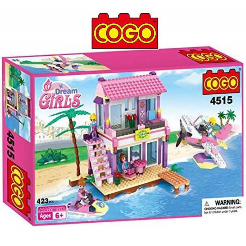 Casa de Playa - Juego de Construcción - Cogo Blocks - 423 piezas
