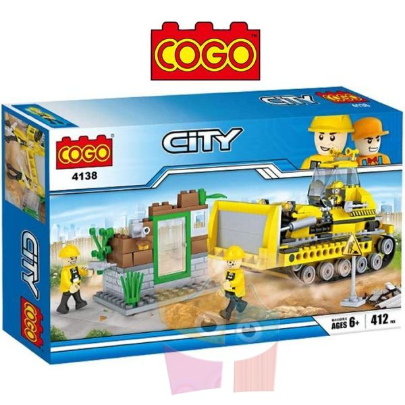 Tractor de Construccion - Juego de Construcción - Cogo Blocks - 412 piezas