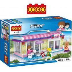 Tienda de Cafeteria - Juego de Construcción - Cogo Blocks - 313 piezas