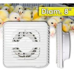 """Ventilador para Incubadora de Huevos - Diametro 8"""" - 24 Watts - 220V"""