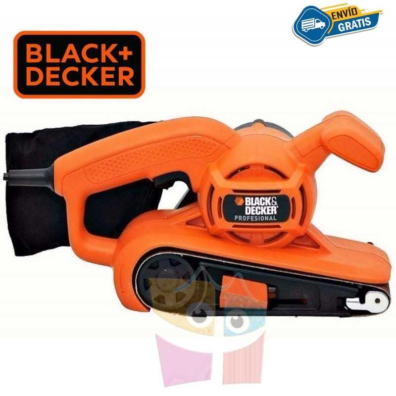 Lijadora de Banda - 76 x 457mm - 680W - Black+Decker - BR318