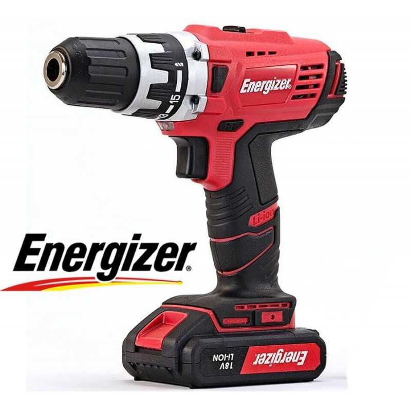 Taladro Atornillador Inalambrico 13mm - 18V - Energizer - EZLD18