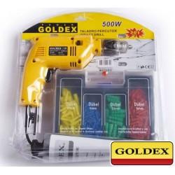 Kit Taladro 13mm - 500W - c/ Accesorios - Goldex - 3558