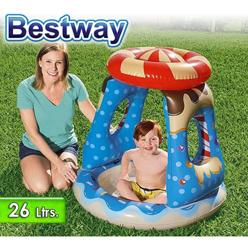 Piscina Infantil Inflable - 26 Lts - 0,91 x 0,91 x H.0,89 Mtr - Bestway - Candyville Playtime - 52270 + Inflador