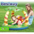 Piscina Infantil Inflable - 26 Lts - 0,99 x 0,91 x H.0,71 Mtr - Bestway - Friendly Jungle - 52179 + Inflador