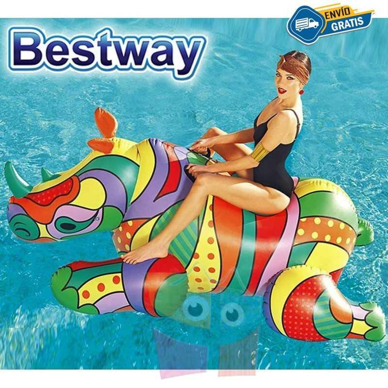 Flotador Rinoceronte Pop - 2,01 x 1,02 Mtr - Bestway - 41116