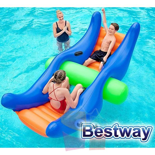 Sube y Baja Acuatico Inflable - 2,80 x 1,20 Mtr - Bestway - Totter-Rocker - 43295