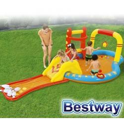 Piscina Infantil - 341 Ltr - 4,35 x 2,13 x H. 1,17 Mtr - Bestway - Bowling - 53068 + Inflador