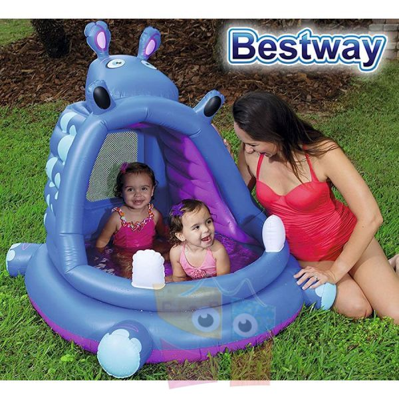 Piscina Infantil - 40 Ltr - 1,12 x 0,99 x H.0,97 Mtr - Bestway - Hipopotamo - 52218 + Inflador