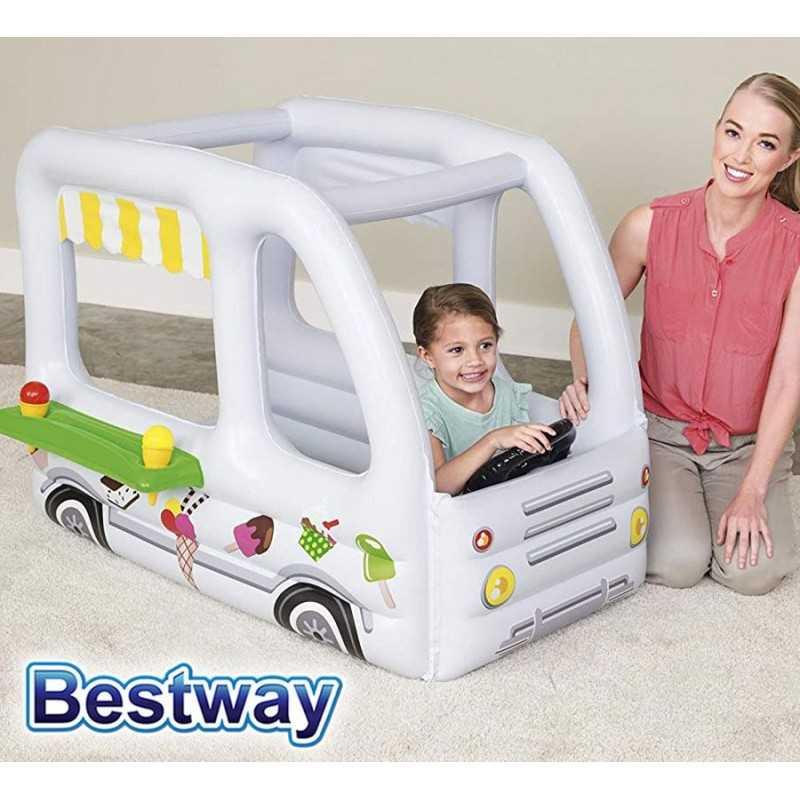 Pelotero Inflable - Bestway - Camion de helados - 52268 + Inflador