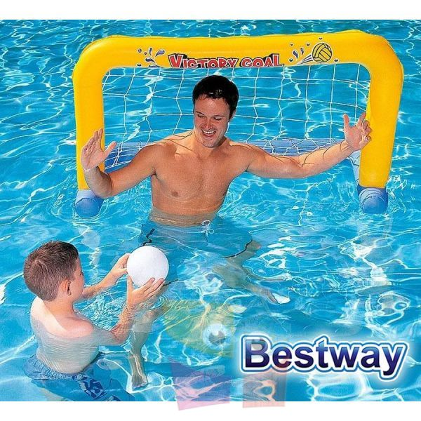 Set de 2 Arcos Inflables - 1,42 x 0,76 Mtrs - Bestway - Set Water Polo - 52123 + Inflador