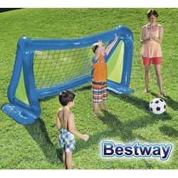 Arco de Futbol Inflable - 2,54 x 1,30 Mtrs - Bestway - Set Arco y Pelota - 52215 + Inflador