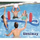 Set Voleyball Inflable - 2,44 x 0,64 Mtrs - Bestway - Set Red y Pelota - 52133 + Inflador