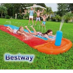 Pista Deslizante - 4,86 Mtr - Bestway - Tobogan de Agua - 52330 + Inflador