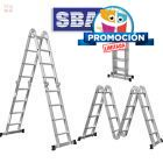 Escalera - 4,45 Mtrs - Articulada Plegable - 10 posiciones 16 peldaños - SBA - A303