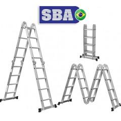 Escalera - 4,75 Mtrs - Articulada Plegable - 10 posiciones 16 peldaños - SBA - A303