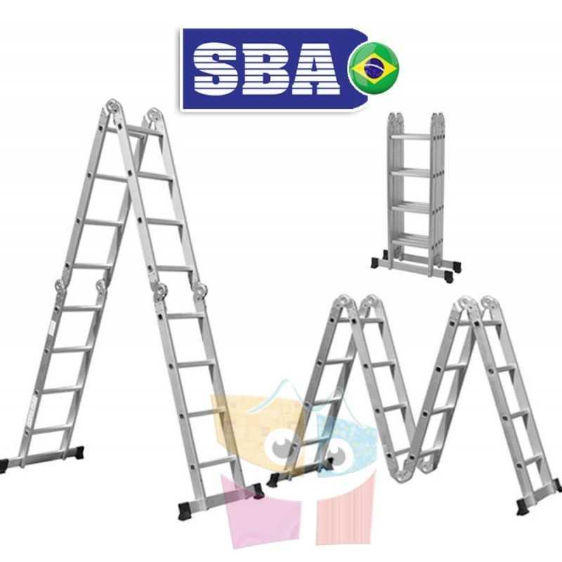 Escalera Articulada Plegable - 4,75 Mtrs - 10 posiciones 16 peldaños - SBA - A303
