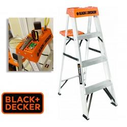Escalera - 1,21 Mtrs - Tijera de Aluminio - Black+Decker - 4 Peldaños