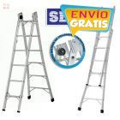 Escalera  - Max. 3,12 Mtrs - Articulada Extensible de Aluminio - 6+6 peldaños - SBA - P006