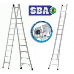 Escalera  - Max. 5,82 Mtrs - Articulada Extensible de Aluminio - 11+11 peldaños - SBA - P011