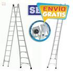 Escalera - Max. 6,42 Mtrs - Articulada Extensible de Aluminio - 12+12 peldaños - SBA - P012