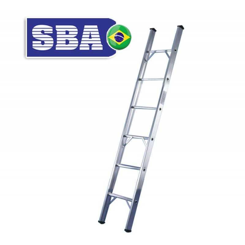 Escalera - 2,27 Mtrs - De Encostar de Aluminio - 8 peldaños - SBA - Paralela