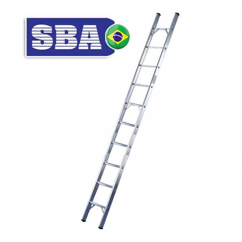 Escalera - 2,83 Mtrs - De Encostar de Aluminio - 10 peldaños - SBA - Paralela