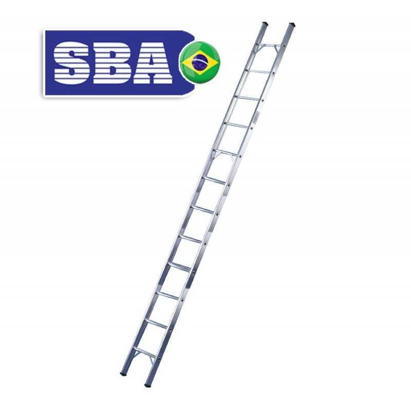 Escalera - 3,39 Mtrs - De Encostar de Aluminio - 12 peldaños - SBA - Paralela