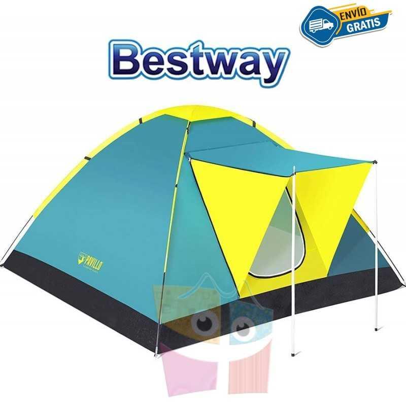 Carpa de Camping - Para 3 personas - 2,1 x 2,1 x 1,2 Mtrs - Bestway - Coolground
