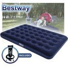 Colchon Inflable - 1,91 x 1,37 x 0,22 Mtrs - Bestway - Aeroluxe Airbed 2 PLAZAS + Inflador