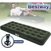 Colchon Inflable - 1,85 x 0,76 x 0,22 Mtrs - Bestway - Aeroluxe Airbed Jr. Twin + Inflador