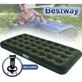 Colchon Inflable - 1,88 x 0,99 x 0,22 Mtrs - Bestway - Aeroluxe Airbed Twin + Inflador