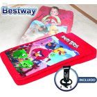 Colchon Inflable Infantil - 1,32 x 0,76 x 0,20 Mtrs - Bestway - Angry Birds + Inflador
