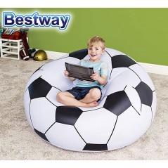 Sofa Puff Inflable Infantil - 1,14 x 1,12 x 0,71 Mtrs - Bestway - Balon Futbol