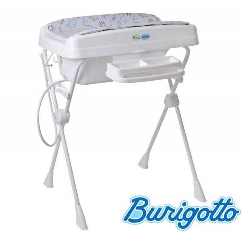 Bañera con Cambiador y Asiento Reductor - Burigotto - Millenia - Azul Peixinho