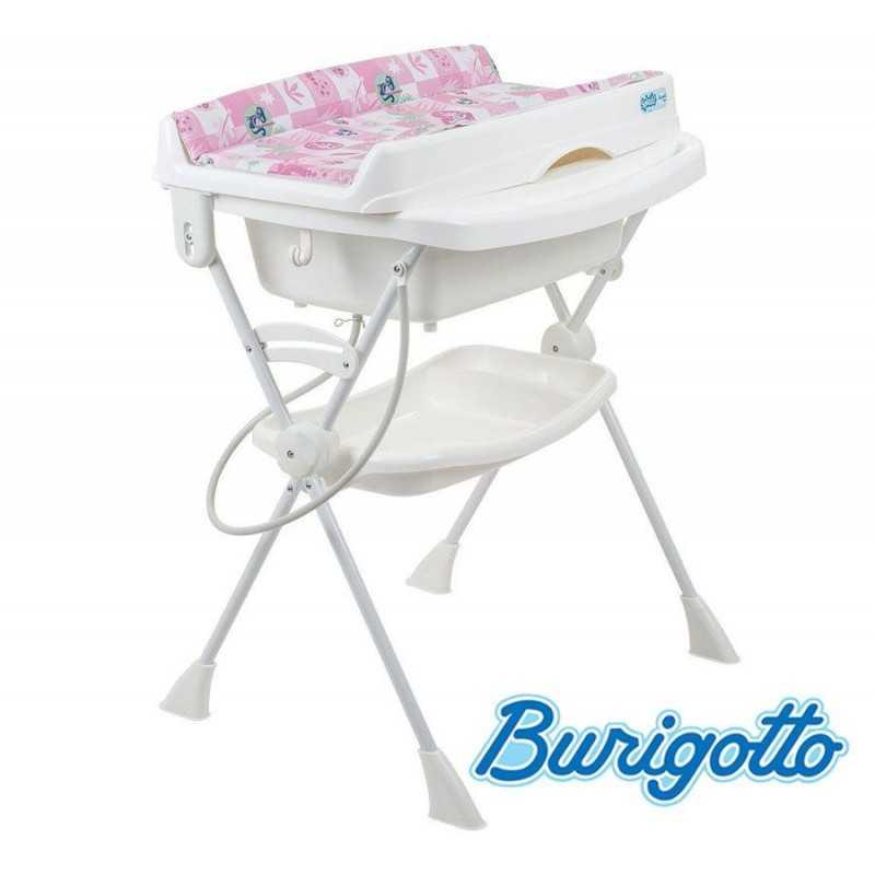 Bañera con Cambiador y Asiento Reductor - Burigotto - Splash - Peixinhos Rosa