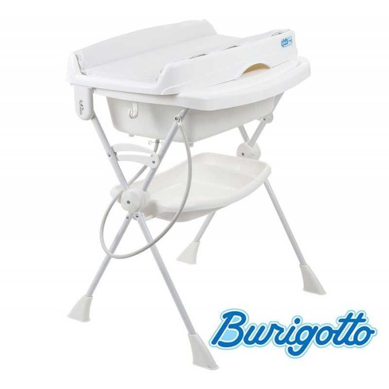 Bañera con Cambiador y Asiento Reductor - Burigotto - Splash - Blanca