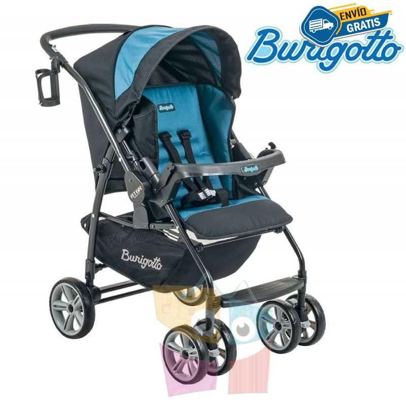 Carrito de bebé - Burigotto - AT6 K - Negro Azul