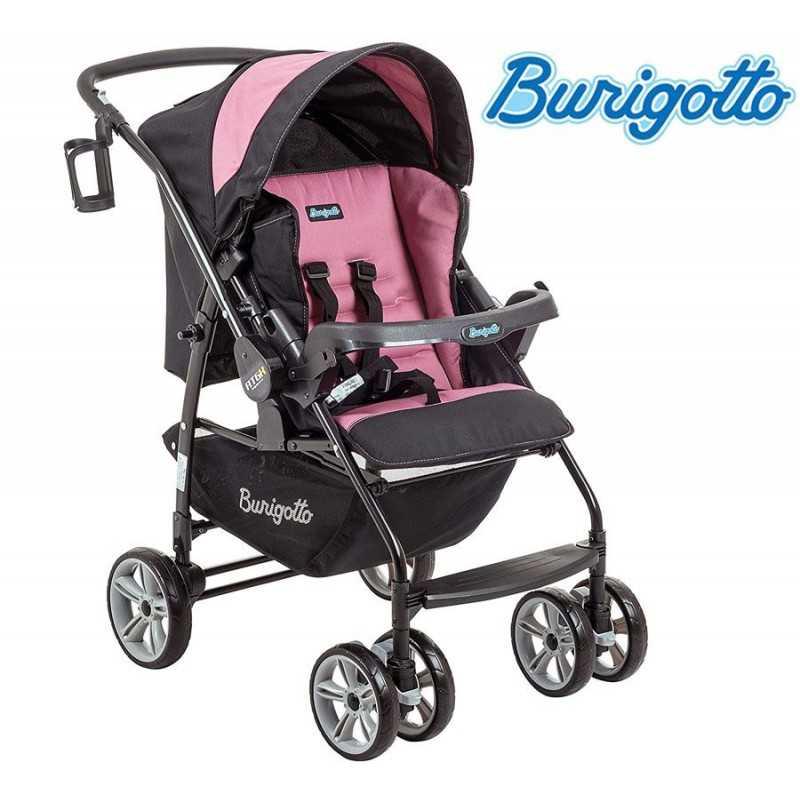 Carrito de bebé - Burigotto - AT6 K - Negro Rosa