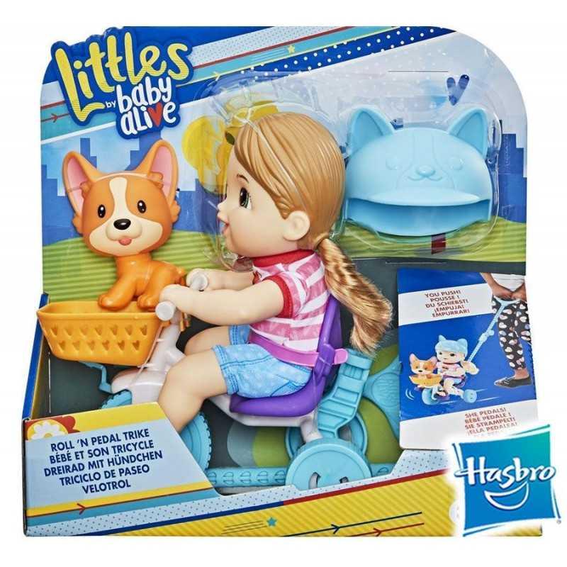 Littles Paseo en Triciclo - Pequeña Jade - Baby Alive - Hasbro