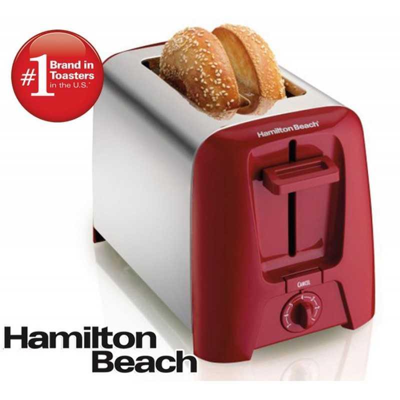Tostadora de 2 Rebanadas - Hamilton Beach - Rojo 22623-BZ220